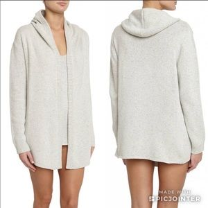 Eberjey Paula open front hooded cardigan SM
